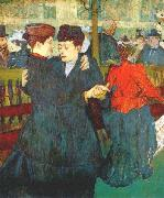 At the Moulin Rouge, Two Women Waltzing Henri de toulouse-lautrec